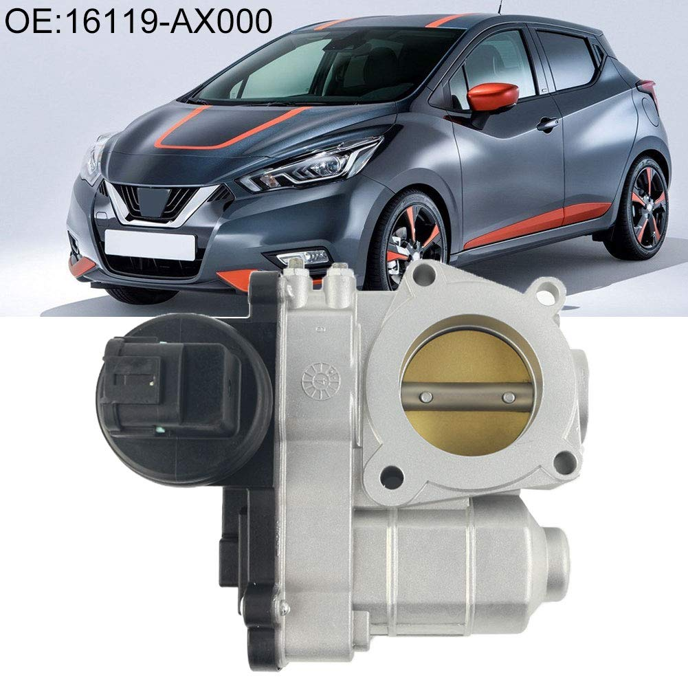Shentesel 16119-AX000 16119-AX001 Aluminum Plastic Throttle Body Valve for Nissan March by Shentesel