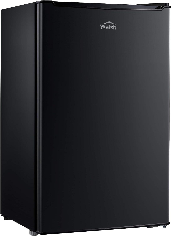 Walsh WSR35BK Compact Refrigerator Single Door Fridge Adjustable Mechanical Thermostat with Chiller, 3.5 Cu.ft, Black