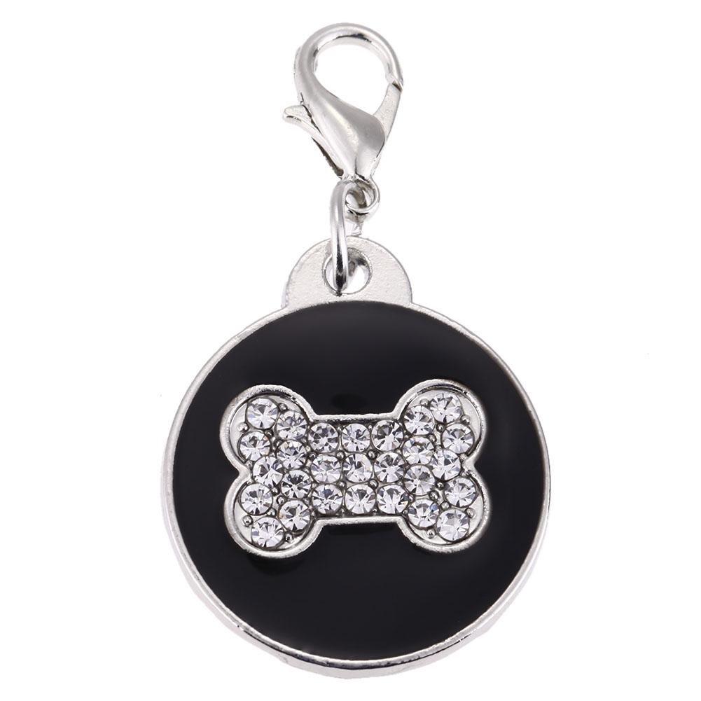 Demiawaking Médaille Chien, OS Impression Cristal pour animal domestique Médaille d'identité personnalisé ID Tags pour chiens Chiot