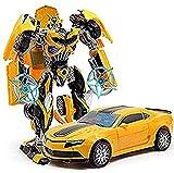 GARNER Robot To Car Converting Transformer Toy For Kids ( Yellow )