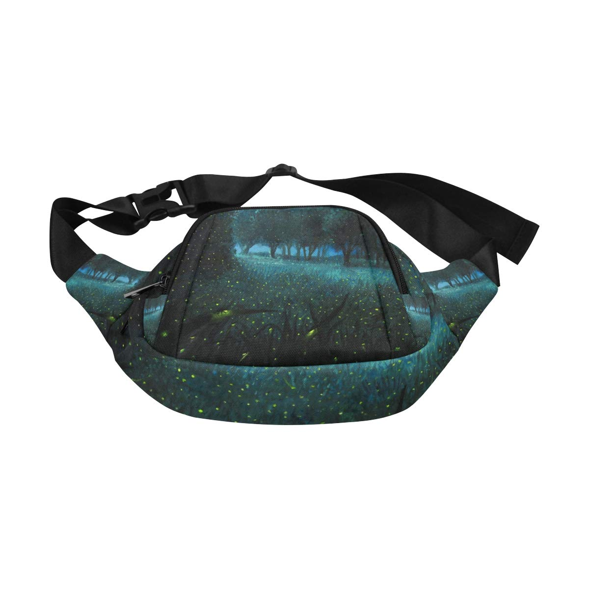 Many Fireflies Flying In The Fores Fenny Packs Waist Bags Adjustable Belt Waterproof Nylon Travel Running Sport Vacation Party For Men Women Boys Girls Kids