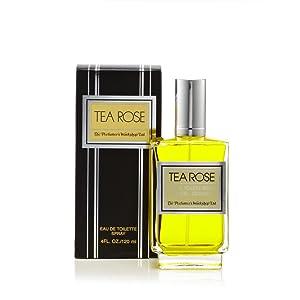 Perfumers Workshop Tea Rose Eau de Toilette Spray for Women, 4.0 Fluid Ounce