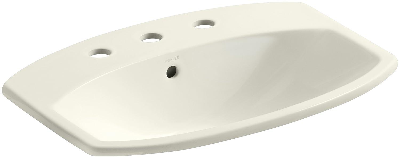 KOHLER K-2351-8-96 Cimarron Self-Rimming Bathroom Sink Biscuit