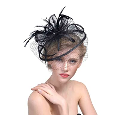 Formal Special Occasion Pillbox Hat Fascinator Headpiece with Veil for  Women Tea Birthday Party 110de22c79c0