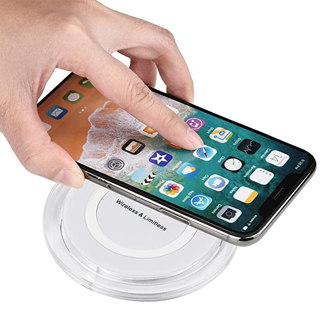 Cargador rápido inalámbrico para iPhone 8/8 Plus/X, bescita ...