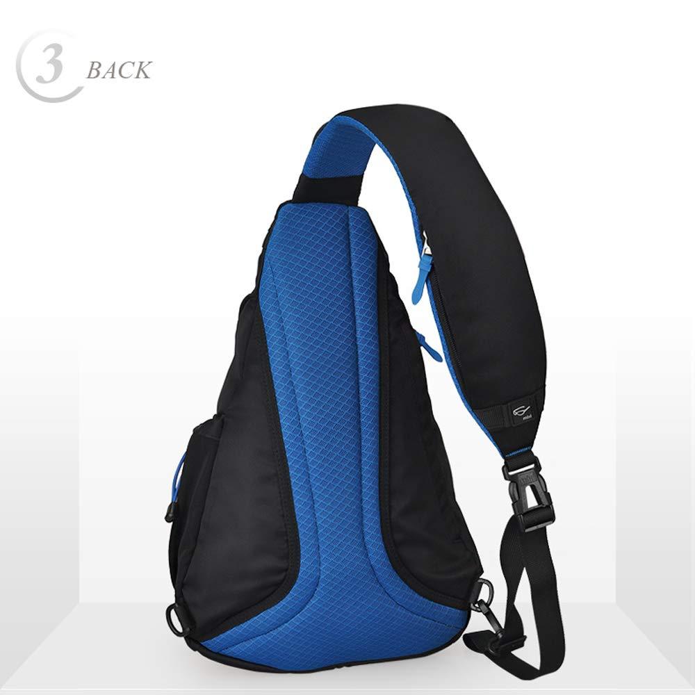 a239fd5591 Amazon.com  Hanke Sling Chest Bag Shoulder Backpack Crossbody Bag Daypack  for School Cycling Hiking Camping Sport Travel  JINYONG