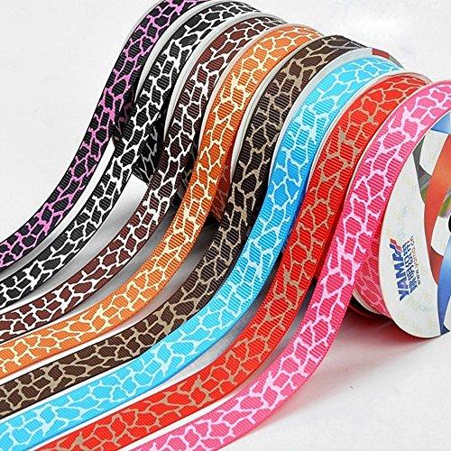 - Ieasycan Animal Print Ribbon Leopard Satin Ribbon 1/2 Inch By 100 Yard, Vary Color Optional