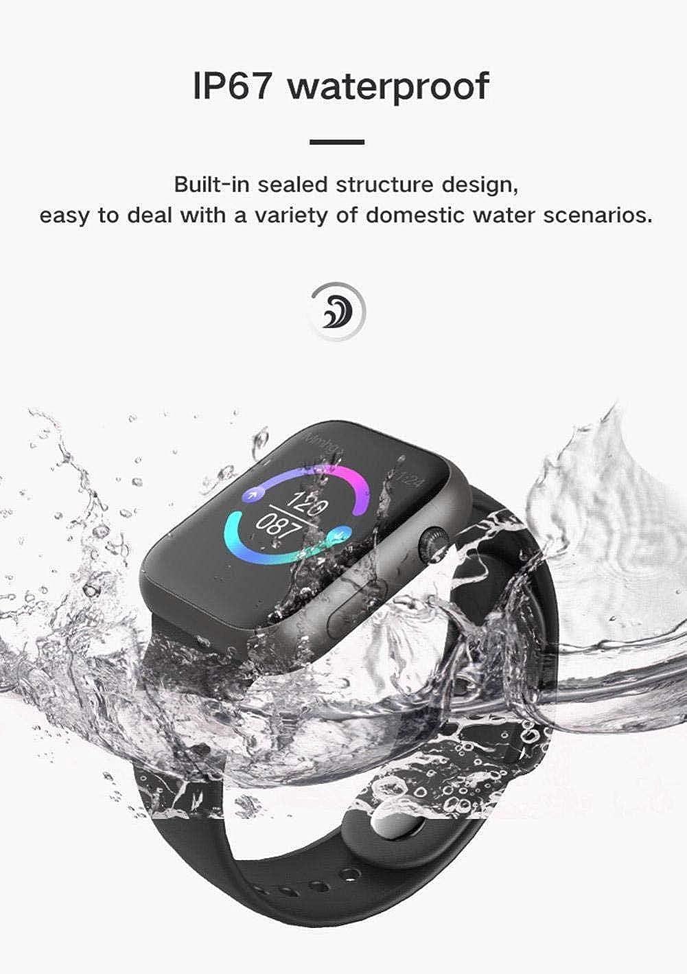 Gli uomini e le donne di impulso fitness pressione sanguigna ossigeno Monitor SmartWatch Nero Bianco Nero Blu