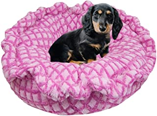 product image for BESSIE AND BARNIE Ultra Plush Pink it Fence Deluxe Dog/Pet Lily Pod Bed - 24""