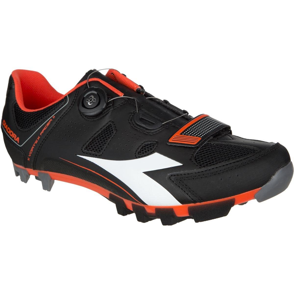 Diadora X Vortex-Racer II Shoes - Men's B01EBUSSRG 40|Black/White/Red Fluo