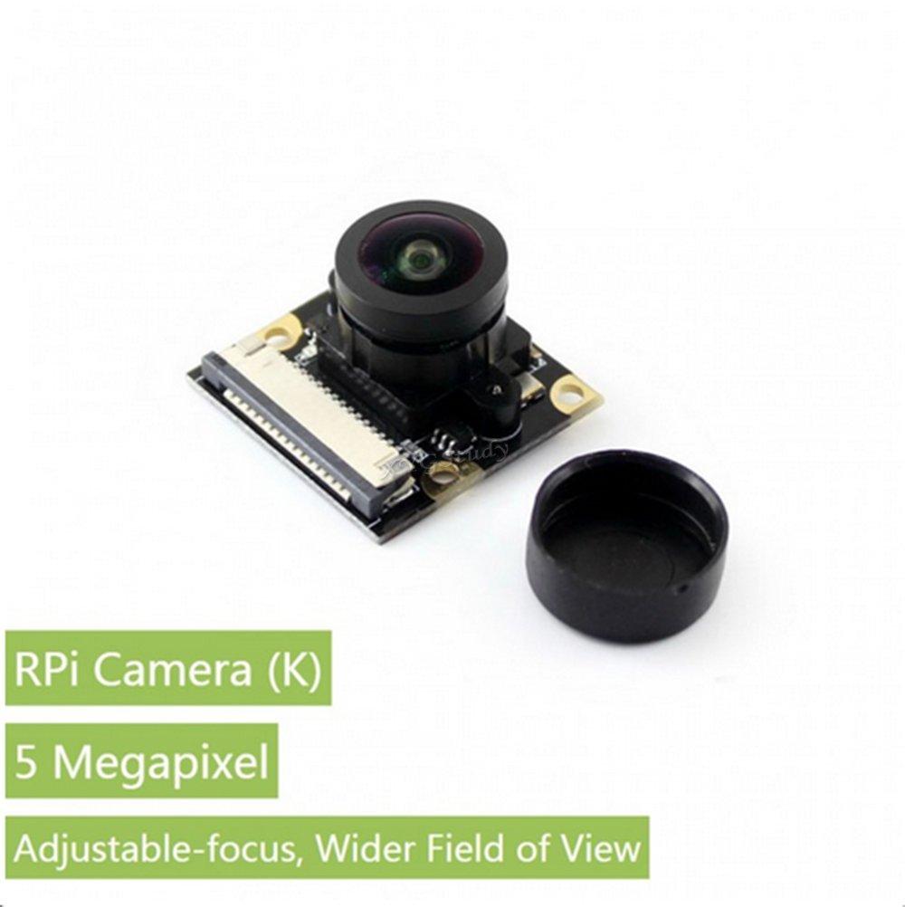 Raspberry-pi-camera-(K) Raspberry Pi Camera Module 5 megapixel OV5647 sensor 1080p Fisheye Lens Webcam wider field of view for Raspberry Pi model B B+ A+ Pi 2 3 Zero v1.3 -- RPi Camera (K) @XYGStudy