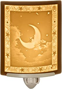 Man in The Moon - Fine Porcelain Curved Lithophane Night Light