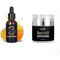 2,5% Retinol Whitening Face Cream & Vitamine C Serum Anti Aging, Face Eye Treatment Serum voor hydraterende whitening…