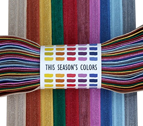 This Season's Colors Fall Fold Over Elastic, FOE (10 yards, 1 Yard of Each Color, Fall/Winter - This Fashion Mens Fall