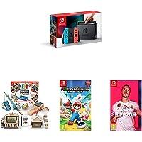 Pack Switch Néon + Fifa 20 + Mario Lapins Crétins  + Nintendo Labo Multikit