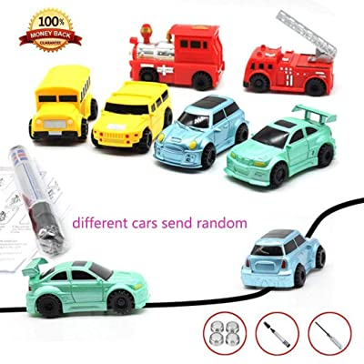 Kouye Children Mini Creative Drawn Line Follow Electric Inductive Toy Car Push & Pull Toys: Kitchen & Dining