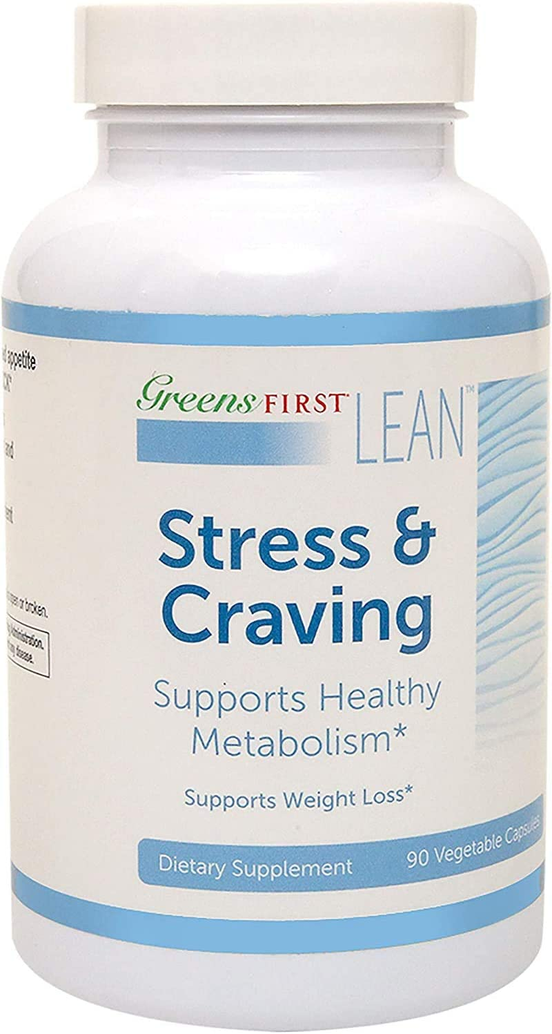 Greens First Lean Stress & Craving Dietary Supplement – Dietary Supplements for Weight Loss – Nutritional Supplements – with Three Key Active Ingredients – 90 Capsules