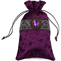 Gem Velvet Tarot Card Holder Bag Pouch with Drawstring