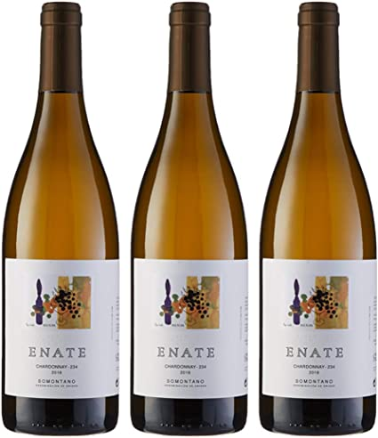 Estuche ENATE Chardonnay-234 2018 de 3 Botellas de 75 cl, Vino Blanco, DO Somontano: Amazon.es: Alimentación y bebidas