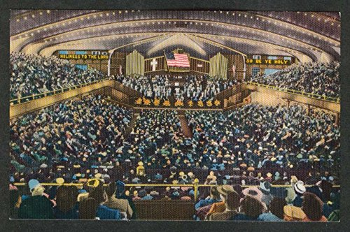Methodist Auditorium Largest Organ in World Ocean Grove NJ postcard 1950s (Best Auditoriums In The World)