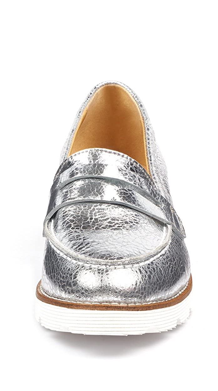 Amazon.com | BOBERCK Val Collection Womens Slip-on Loafer (9 B(M) US, Silver) | Loafers & Slip-Ons