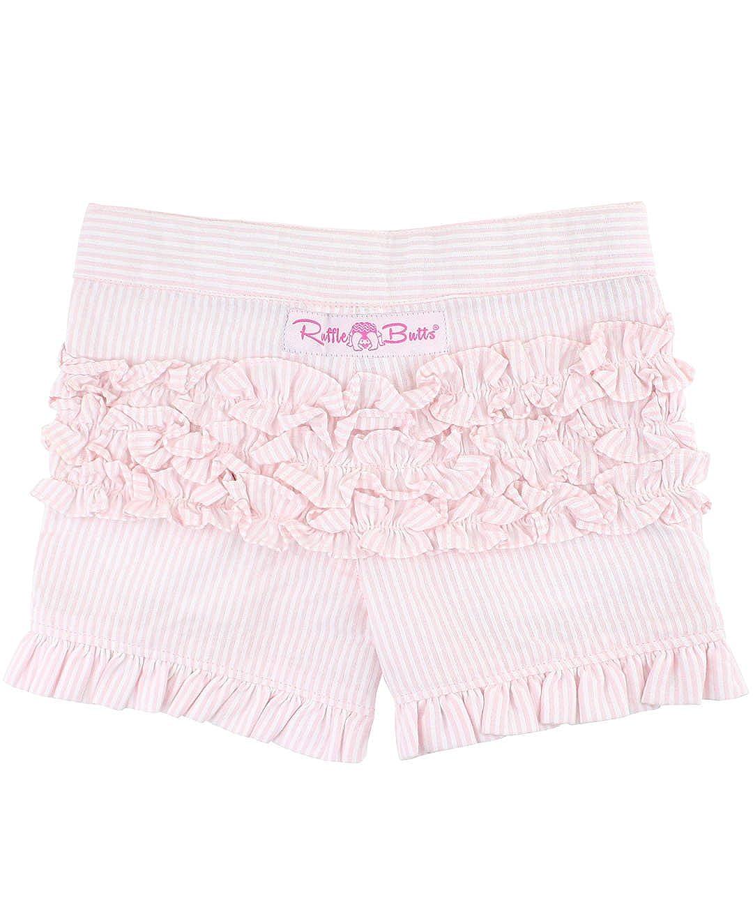 RuffleButts Baby//Toddler Girls Woven Shorts w//Ruffle Hem