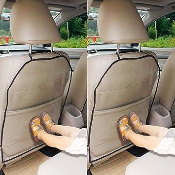 Anjien Autositzschoner Rückenlehne Kinder Rückenlehnenschutz Auto Anti Schmutzig Autositzschutz Rückseite 2 Stück Transparent Wasserdichter Rückenschutz Autositz Für Kinder Baumarkt