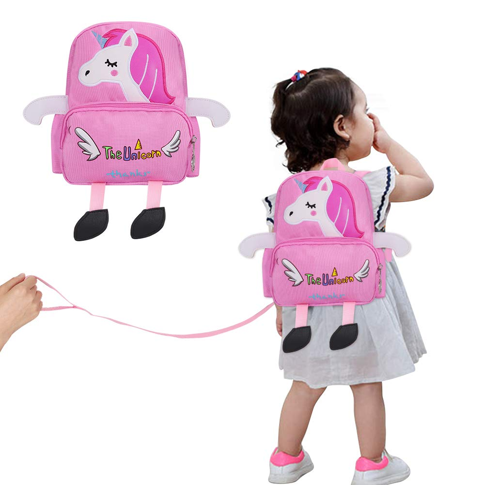 Accmor Toddler Harness Backpack, Unicorn Baby Anti-Lost Backpack Leash, Lightweight Safety Child Harness Backpack Reins for Boys Girls (Pink)