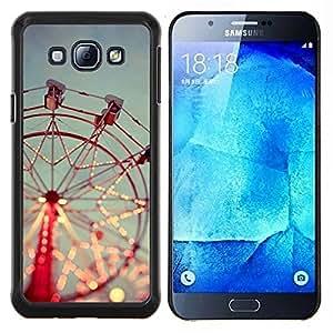 For Samsung Galaxy A8 A8000 - carousel merry go around red sky /Caja protectora de pl???¡¯????stico duro de la cubierta Dise???¡¯???¡Ào Slim Fit/ - Super