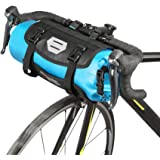 Lixada Bicycle Bag Waterproof Cycling Mountain Road MTB Bike Front Frame Handlebar Pannier Dry Bag with Roll Top Closure 3L-7L Adjustable