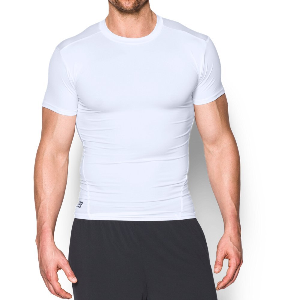 Under Armour Men's Tactical HeatGear Compression, White (100)/White, Large