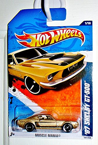 HOT WHEELS 2011 MUSCLE MANIA 1/10 GOLD '67 SHELBY GT-500 101/244 ()