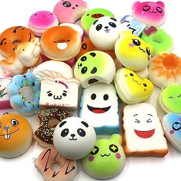 Juguetes Squishy de Hinchado Lento Paquete Surtido de 15 Squishies: Kawaii de Comida Gigante Bollo Pan Donuts Panda Suaves y Blandos Jumbo Medio y ...