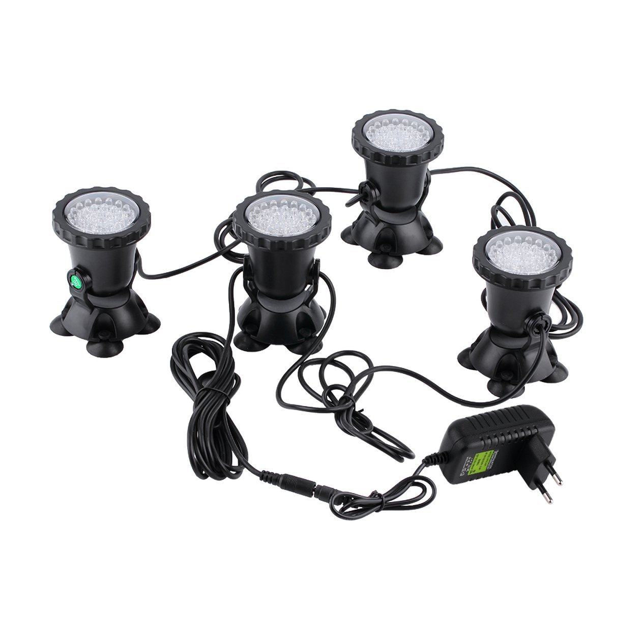 Heraihe Submersible 4pcs étanche étanche sous-Marine Aquarium étang de Jardin Fontaine Fish Tank Piscine Couverte Etang 36LED Spot Light