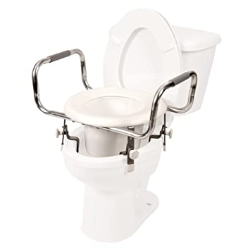 Super Pcp Adjustable Height Raised Toilet Seat Tall Increased Elevation With Security Safety Clamps Made In Usa Ncnpc Chair Design For Home Ncnpcorg