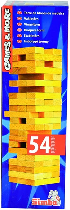 Simba G and M Wooden Tumbling Tower in Cream Color for Kids