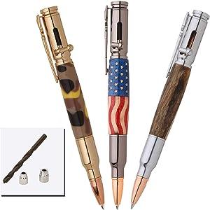 PSI Woodworking PKCPBAPAK 30 Caliber Bolt Action Bullet Cartridge Pen Kit Starter Package