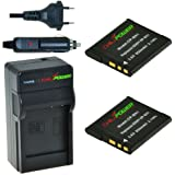Chili Power NP-BN1Kit: 2x Batterie + Chargeur pour Sony DSC-WX5DSC-L1> dsc-wx150, DSC-T99, DSC-T110, DSC-F828TF1, DSC-F828, DSC-TX9DSC-TX10, DSC-TX20, DSC-TX55de DSC-TX30, DSC, DSC-F828, tx66dsc-tx100V, tx200V, DSC-W320–> DSC-W830