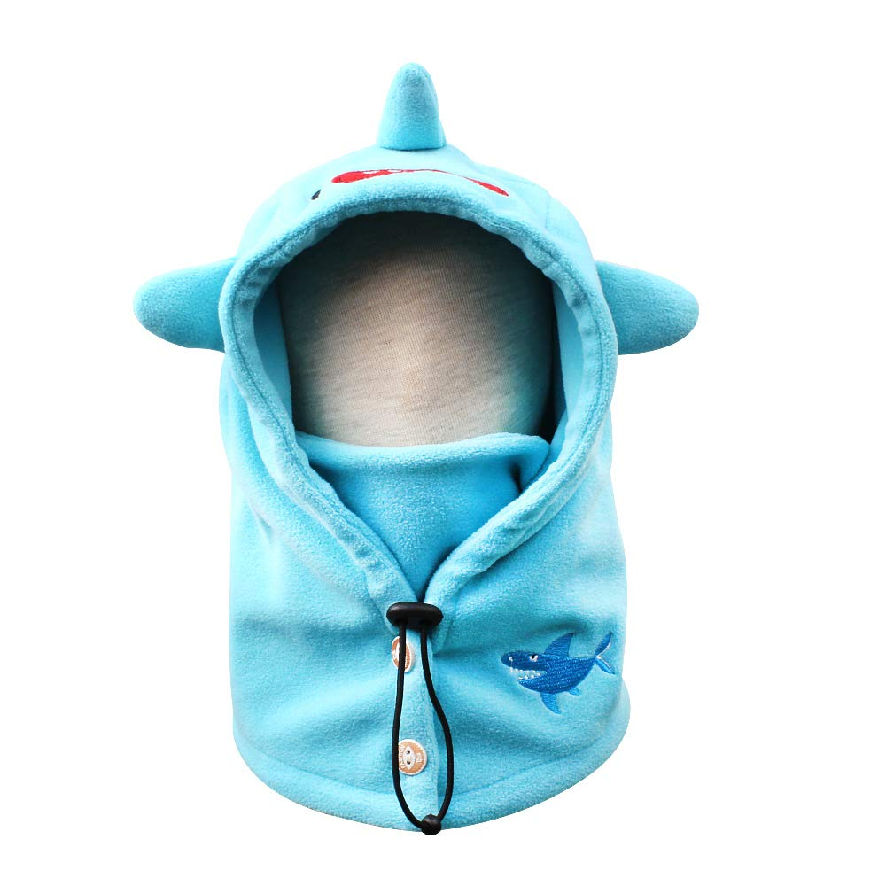 Christmas Baby Winter Scarf Hats Cute Warm Kids Boys Girls Earflap Beanie Cap with Telescopic Rope,Buttons,Windproof Mask