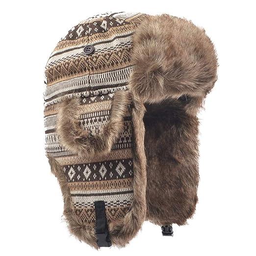 Janey Rubbins Russian Hat Fur Soviet Ushanka Cossack Winter Cap Earflap  Snow Ski Headwear (M bee293ae5172