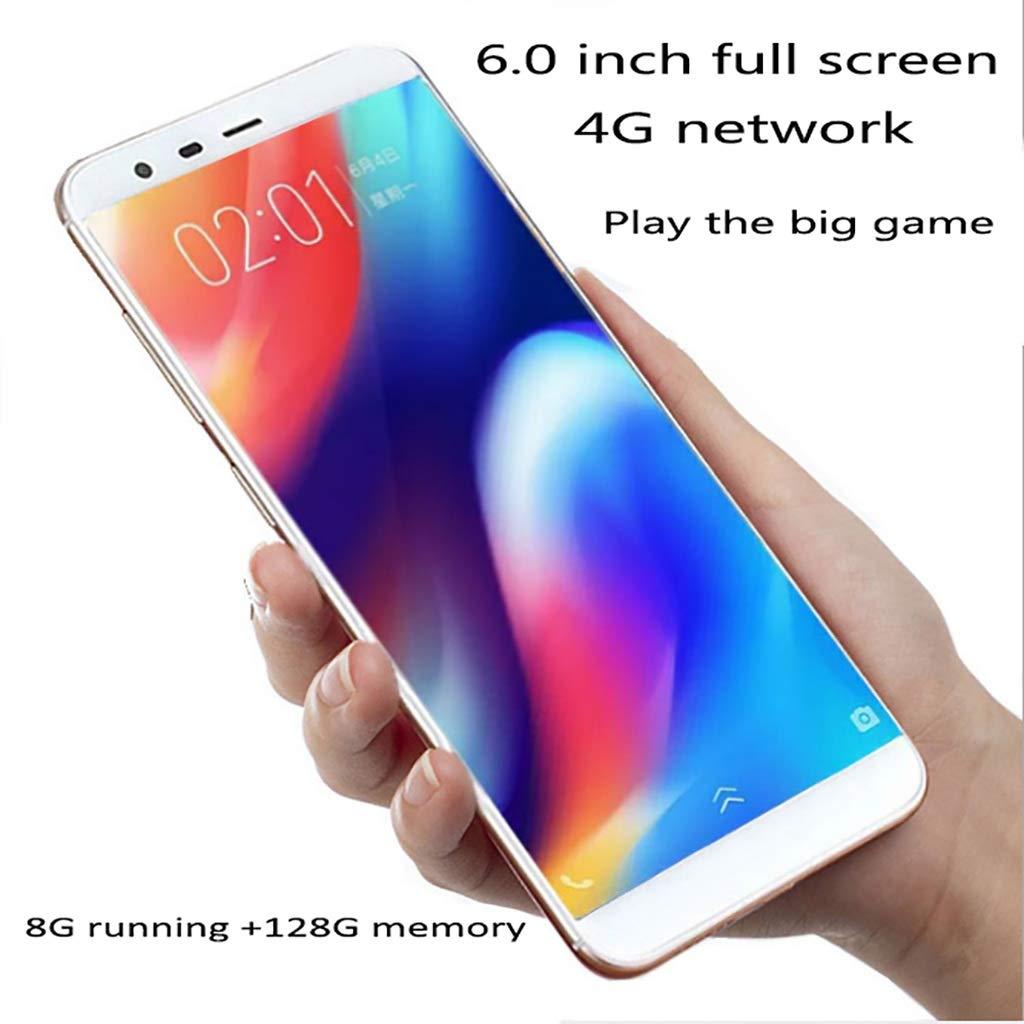 Mobiles 8G运行内存+128GB机身内存 6.0寸全曲面显示屏安卓系统,指纹解锁,支持各种大型游戏不卡顿; (Color : A)