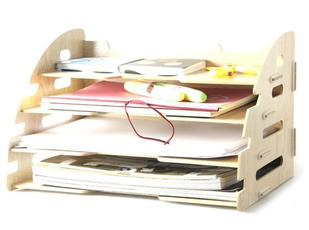 Kaxima Desk Storage Box, Wood, Drawer, Organizer Storage Rack, Storage Box, Storage Box, 33.3x24x21cm