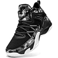 WELRUNG Unisex's High Top Lightweight Fly-Weaving Running Jogging Sneakers Sports Tennis Basketball Shoes