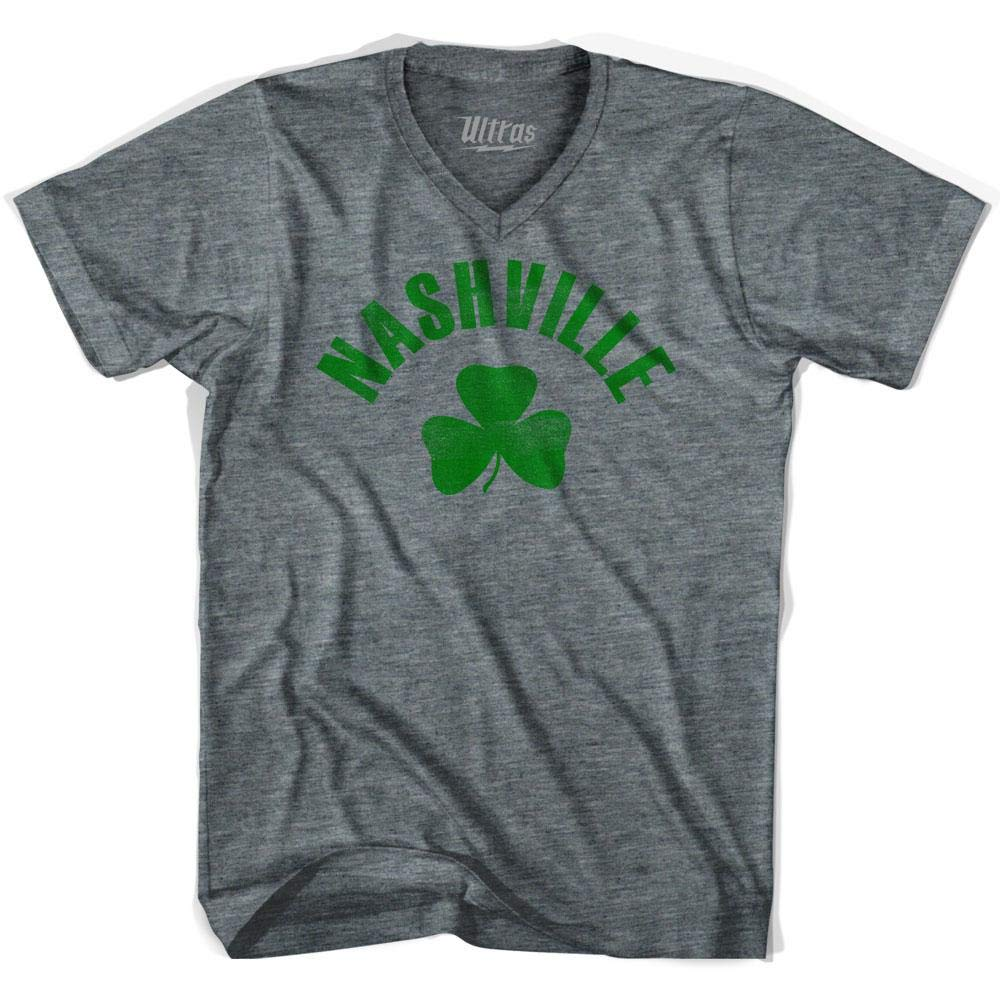 Nashville City Shamrock Tri-Blend V-Neck T-Shirt