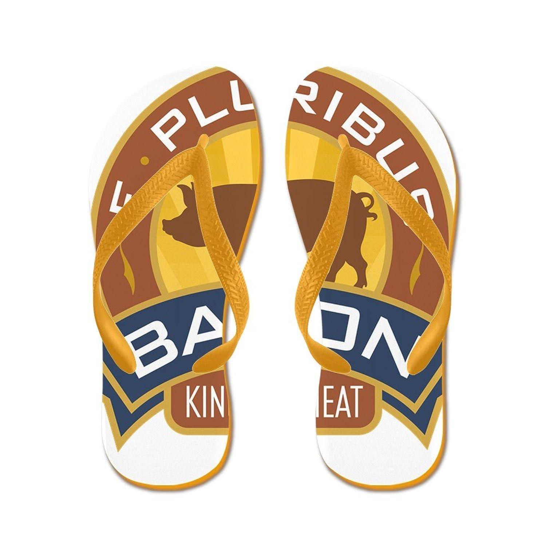 39a0464a835cc durable modeling Royal Lion Men s Foodie E Pluribus Bacon King of Meat  Rubber Flip Flops Sandals