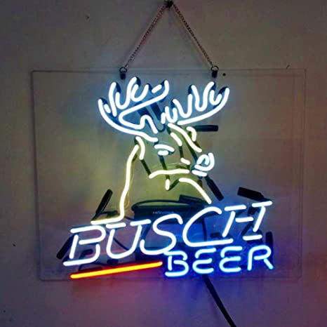 Swell Busch Beer Real Glass Beer Bar Pub Party Decor Neon Signs 19X15 Download Free Architecture Designs Ogrambritishbridgeorg