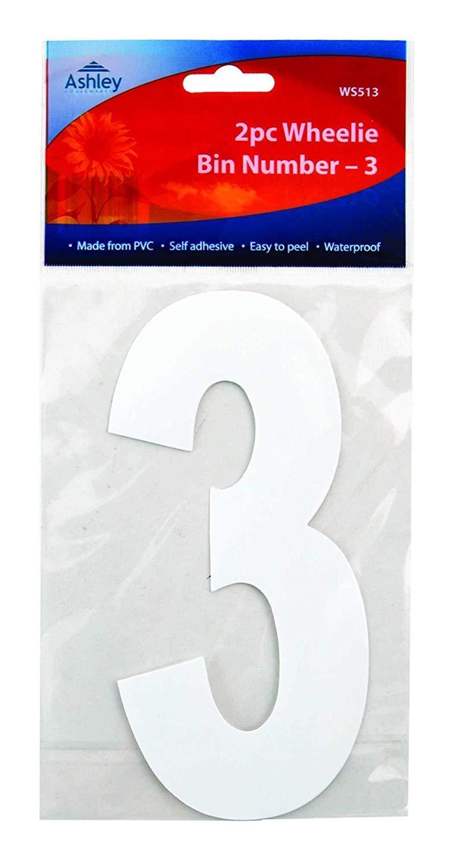 2 X 2 Pack Wheelie Bin Numbers 9