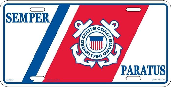 Coast Guard Semper Paratus License Plate FindingKing U.S