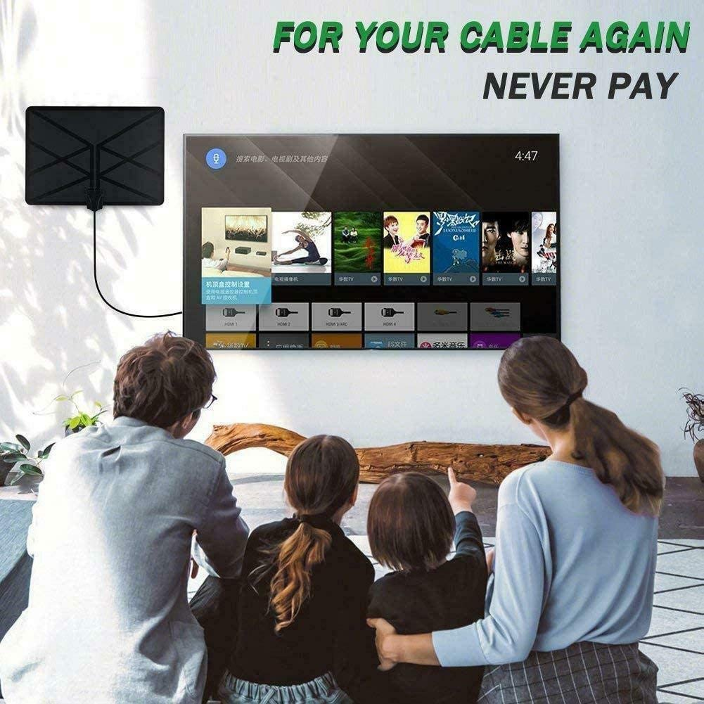 Hapshop 960 Mile Range Antenna TV Digital 4K HD Digital Indoor HDTV 1080P Skywire Antena