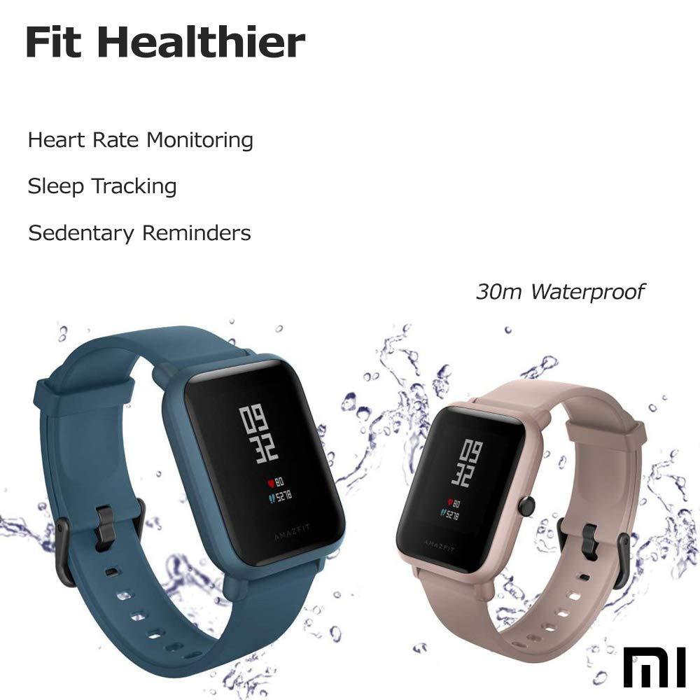 Xiaomi Amazfit Bip Lite SmartWatch Monitor de Actividad Fitness Resistente al Agua 30 Metros Pulsómetro Modos Deportivos iOS & Android (Versión ...
